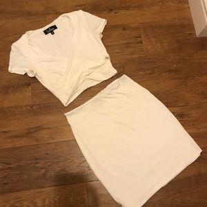 2 Piece White Dress!